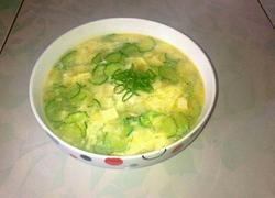 黄瓜鸡蛋豆腐汤