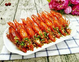 蒜蓉蒸龙虾[图]