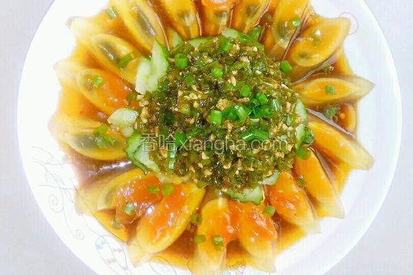 青椒黄瓜拌皮蛋