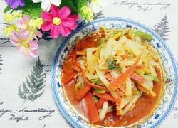 炝拌水煮白菜