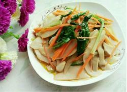 小白菜炒杏鲍菇