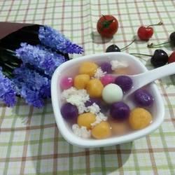 甜酒彩色小汤圆的做法[图]