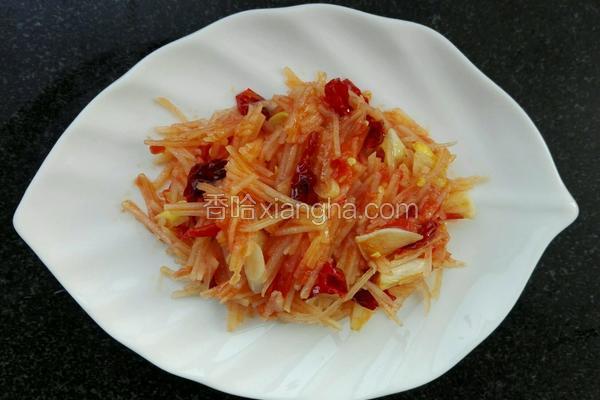 土豆丝炒西红柿~家常菜
