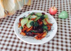 香菇肉片炒油菜