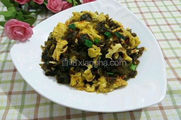 地皮菜炒土鸡蛋