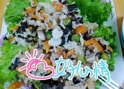 香菇木耳鸡肉荷叶蒸饭