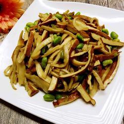杏鲍香干炒毛豆