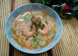 丝瓜大虾面条