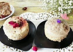 鲜玫瑰花酱蒸蛋糕