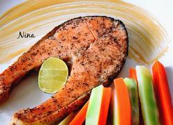 盐烤三文鱼