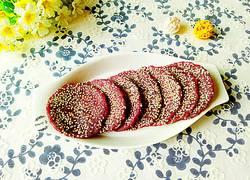 芝麻紫薯蒸饼