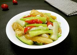 丝瓜炒油条