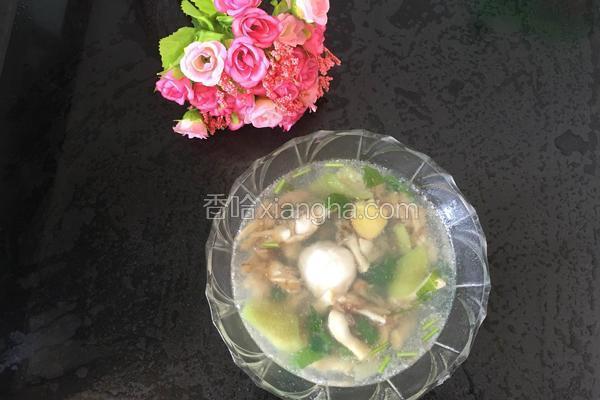 丝瓜蛏溜肉片汤