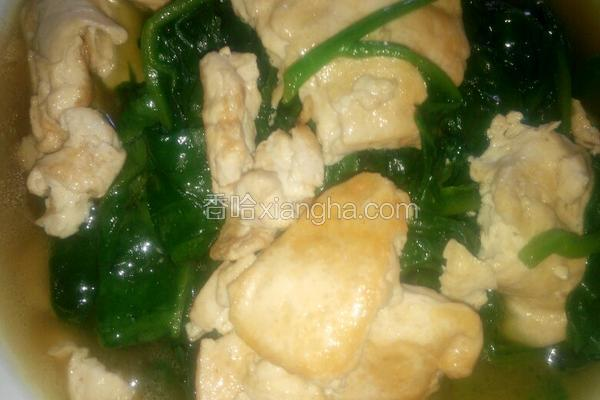 田菜焖豆腐