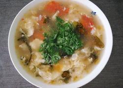 呛锅番茄紫菜蛋花汤