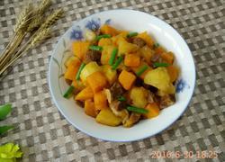 南瓜土豆炖牛肉