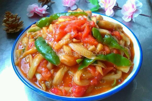 青椒西红柿炒茄子