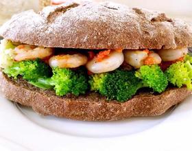 鲜虾蔬菜堡[图]