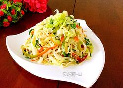 卷心菜辣炒豆腐皮