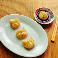 卷心菜素馅蒸饺子