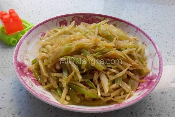 素炒芹菜土豆丝