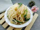凉拌绿豆芽菠菜粉丝的做法[图]