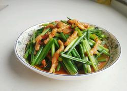 韭菜苔炒肉丝