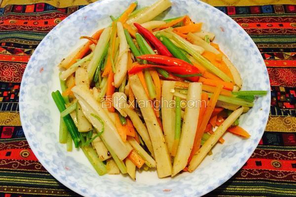 水芹菜炒莲菜