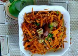 卤肉炒胡萝卜