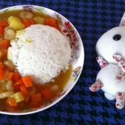 加虾仁的咖喱饭