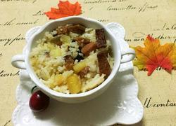 土豆腊肉焖大米饭