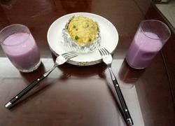 芝士鸡汁土豆泥 牛奶紫薯饮