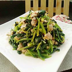 菠菜拌花蚬