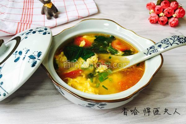 番茄鸡蛋青菜汤