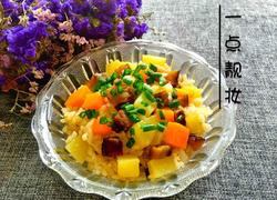 腊肉土豆焖大米饭