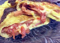 番茄火腿奶酪蛋卷