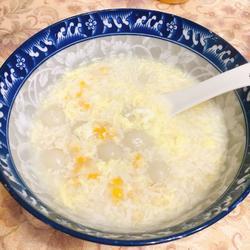 玉米蛋花酒酿元宵