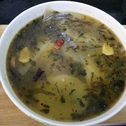 酸腌菜土豆片汤 (攀西特色)