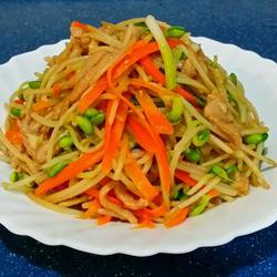 肉絲炒大豆芽菜