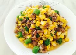 玉米粒与肉粒