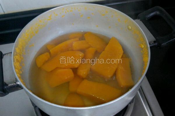南瓜块甜汤