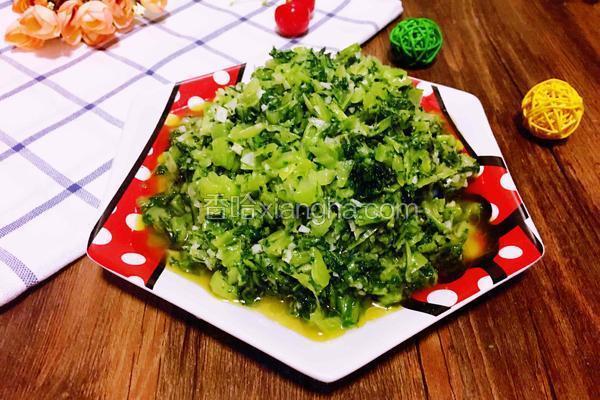 蒜蓉炒芥菜