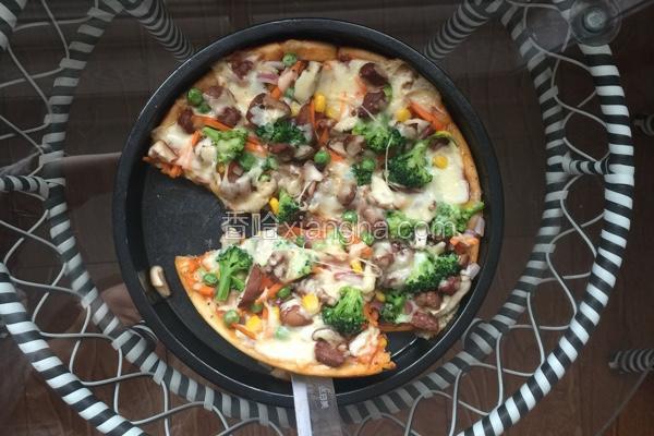 牛肉粒时蔬披萨