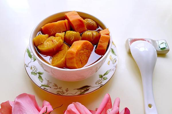 红薯栗子糖水