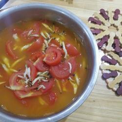 西红柿蟹角汤