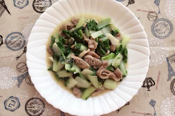 小白菜炒肉
