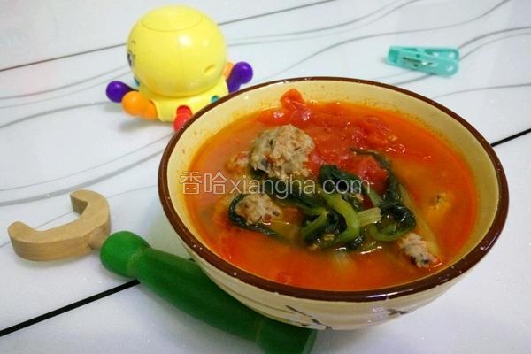 番茄牛肉丸子汤