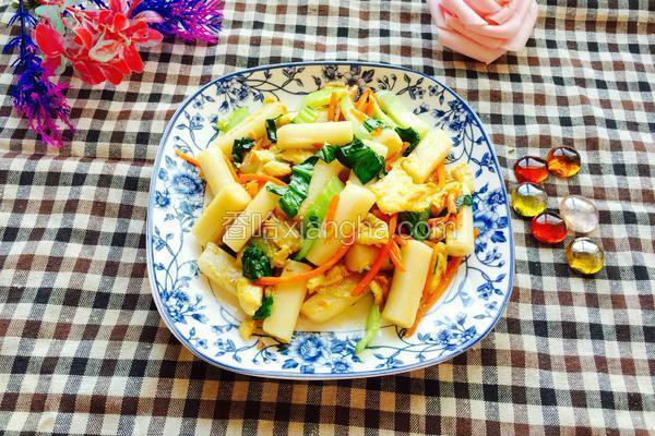 青菜炒年糕