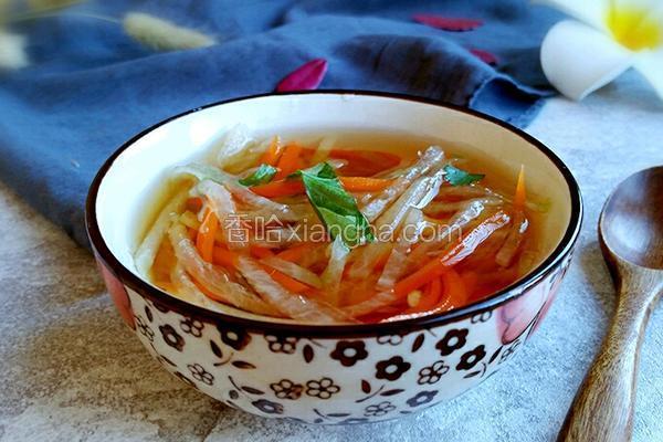 虾皮萝卜丝汤
