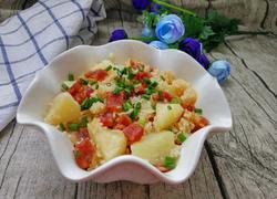 土豆香肠焖饭